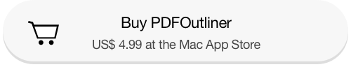 Link to buy and download PDFOutliner app from the Mac App Store for US$ 4.99