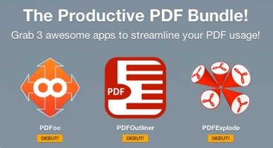 The Productive PDF Bundle of apps PDFOutliner, PDFoo, PDFExplode, at paddle.com